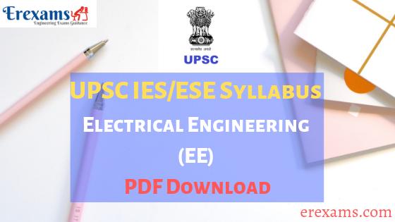 IES Syllabus Electrical Engineering (EE) PDF