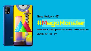 Samsung Galaxy M31 Launch - Full Splecifficatins