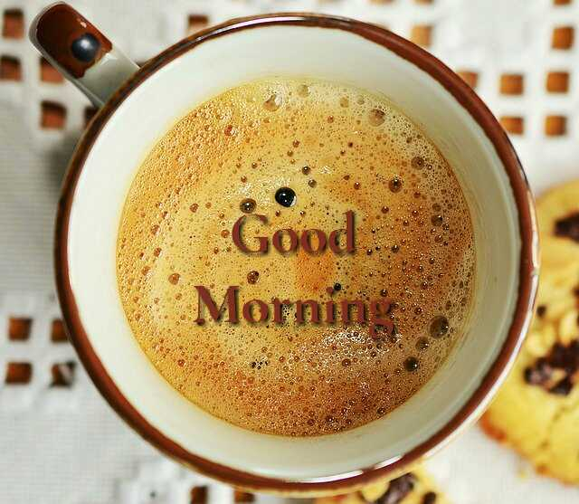Awesome good morning photo image with cup of coffee