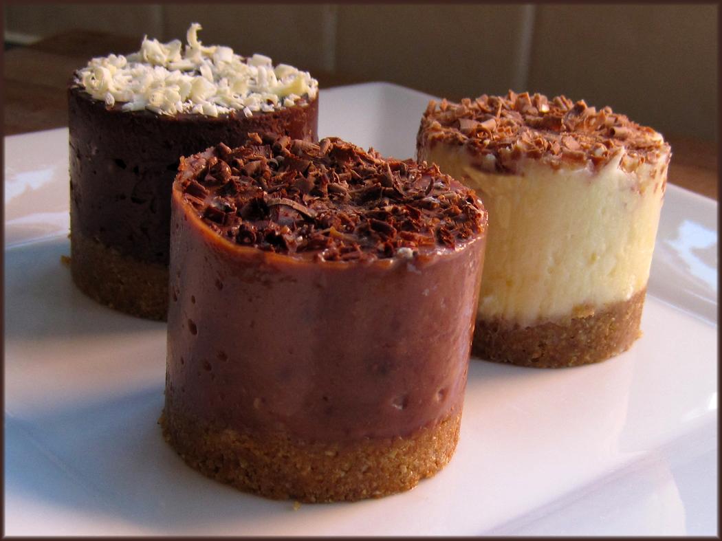 Tiny Toblerone Cheesecakes