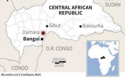 Atacan iglesia con bombas en República Centroafricana