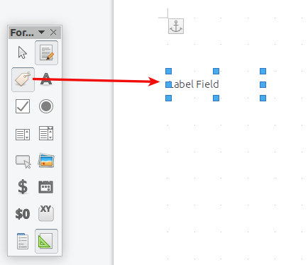 Libreoffice add label field