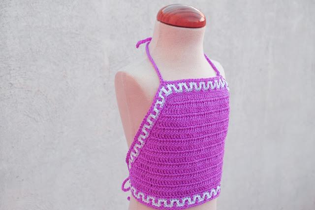 3 - Crochet Imagen Top halter de verano a crochet y ganchillo por Majovel Crochet