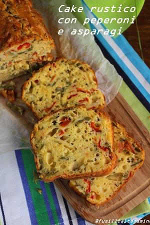 cake rustico con asparagi e peperoni