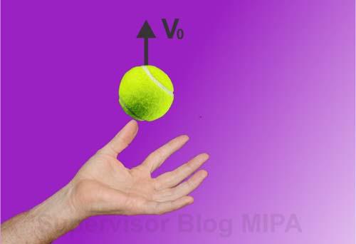 contoh gambar ilustrasi gerak vertikal ke atas (GVA)
