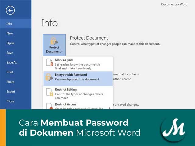 Membuat Password di Dokumen Microsoft Word