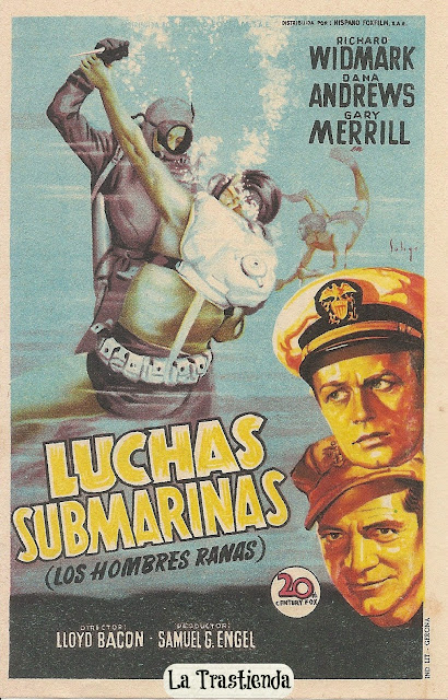 Programa de Cine - Luchas Submarinas - Richard Widmark - Dana Andrews