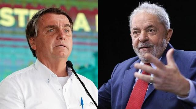 Pesquisas aponta derrota de Bolsonaro para Lula nas eleições de 2022