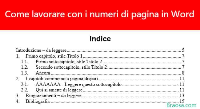 Come lavorare con i numeri di pagina in Microsoft Word