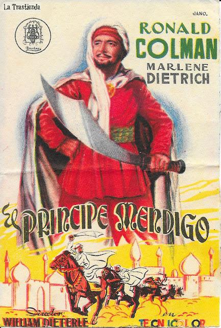El Príncipe Mendigo - Programa de Cine - Marlene Dietrich - Ronald Colman