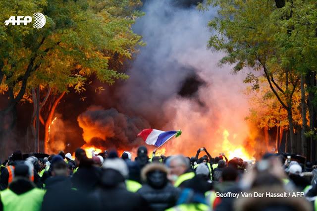 """Yellow vests in Paris """"AFP"""""""