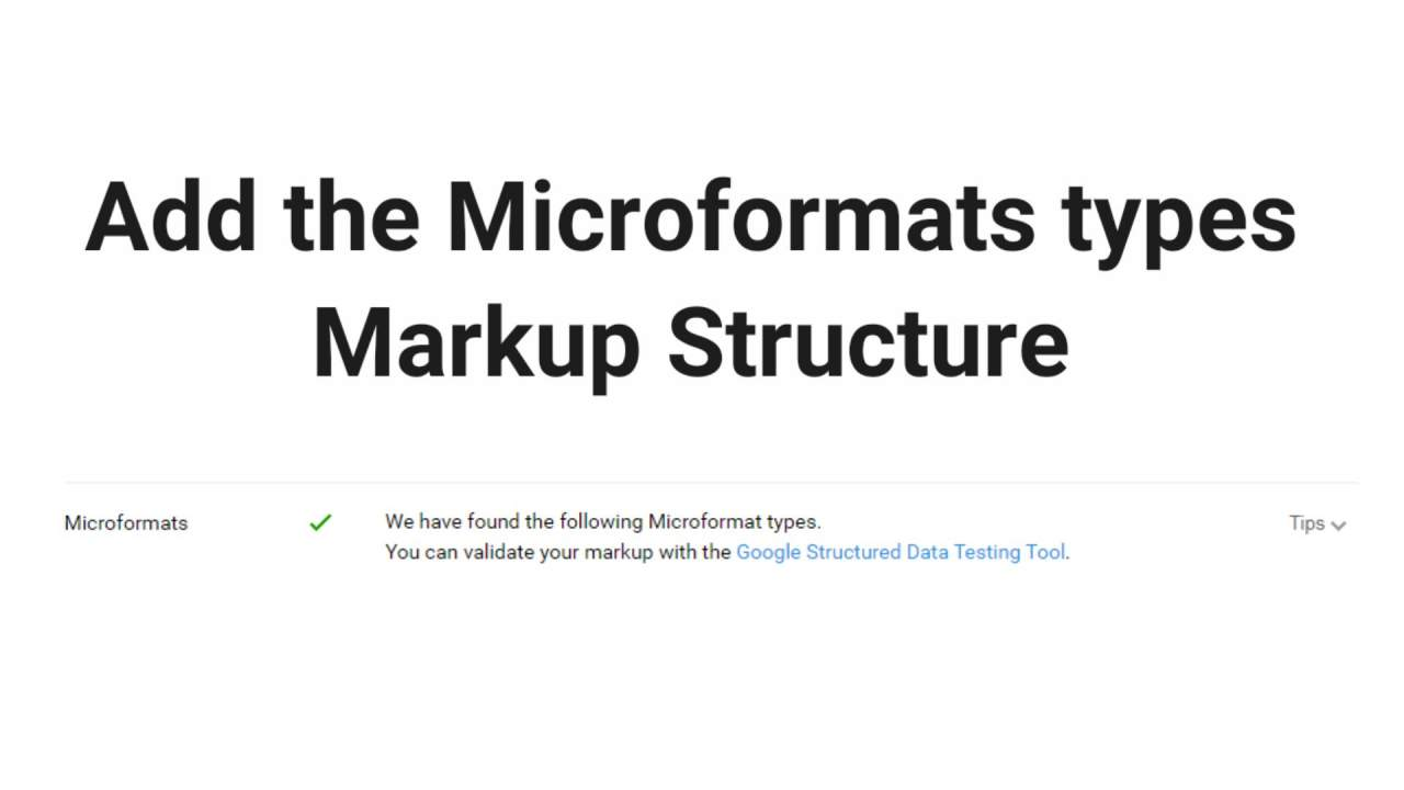 Add the Microformats types markup structure
