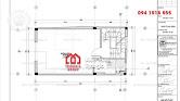 Thiết kế nhà phố 50m2 đẹp 4 tầng 1 tum phong cách hiện đại - Mã số NP1342 - Ảnh 2