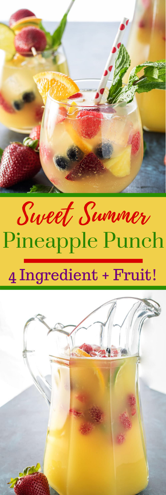 FIZZY PINEAPPLE PUNCH #Summer #Sweetdrink