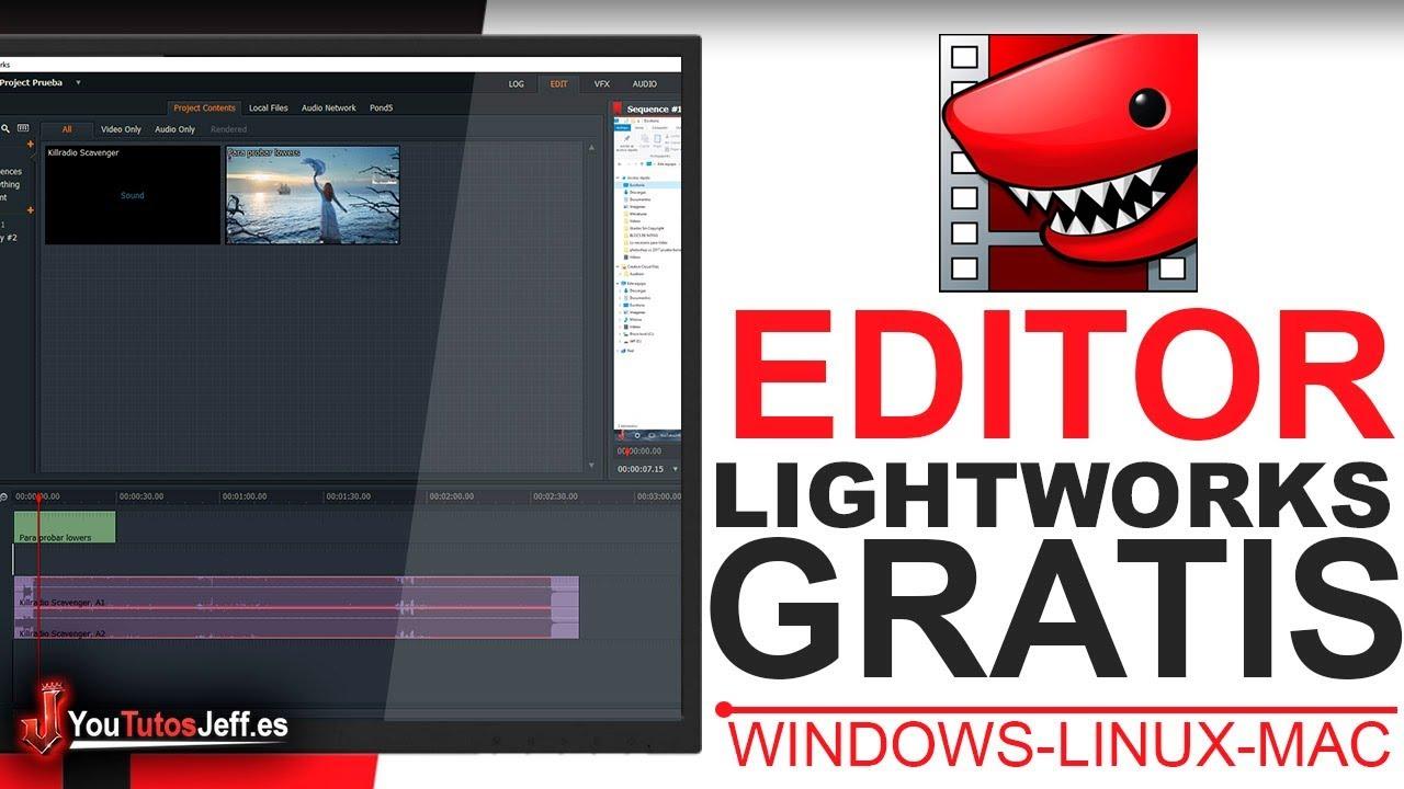 Como Descargar Lightworks Gratis - Editor de Vídeo Gratis para Windows, Mac y Linux