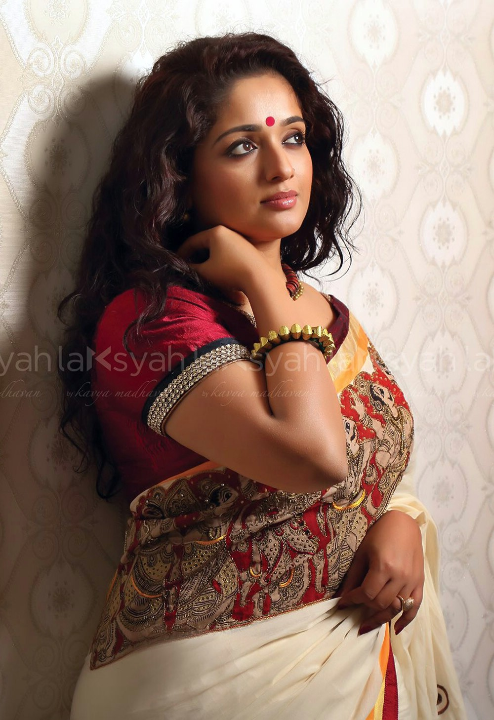 Kavya Madhavan Hot Photos In Saree 2016 Malayalam Actress -1440