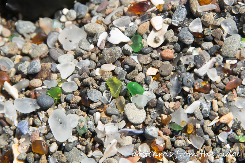 Wow! This is so cool. Glass beach in Fort Bragg, California