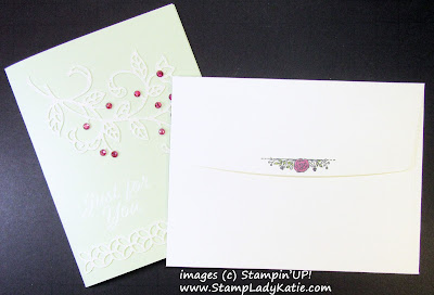 Envelope image from Stampin'UP!'s Meant To Be Stamp Set by StampLadyKatie