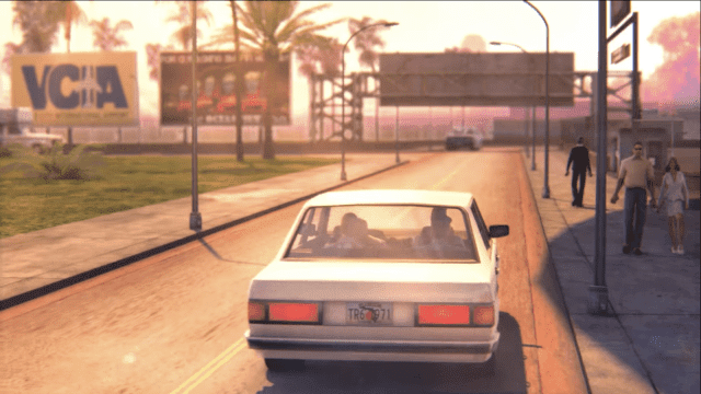 GTA Vice City Remastered Car Drive in City
