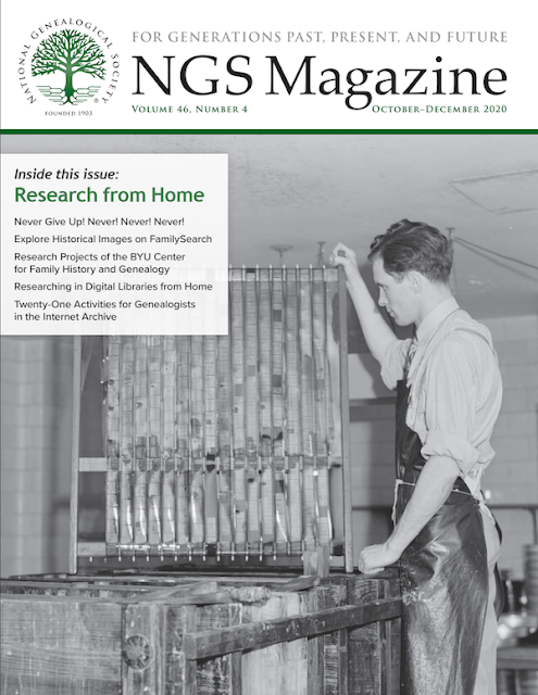 NGS Magazine cover