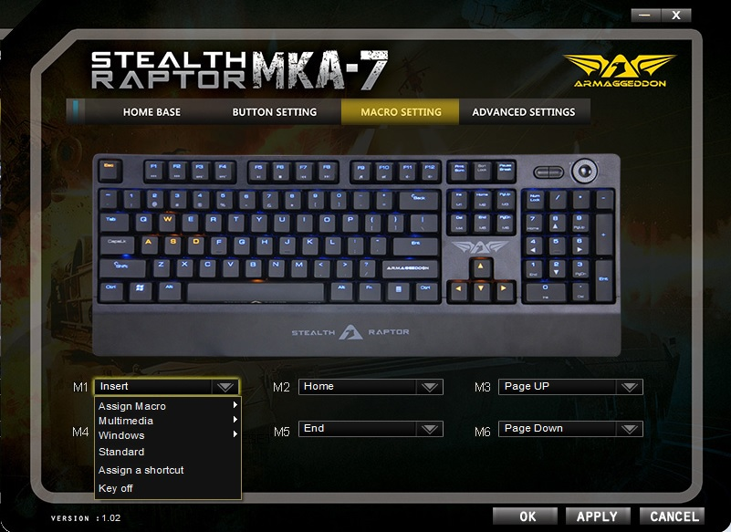 Armaggeddon Stealth Raptor MKA-7 Mechanical Gaming Keyboard 50