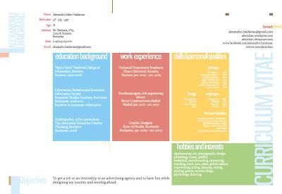 curriculum vitae creativos ejemplos coloridos