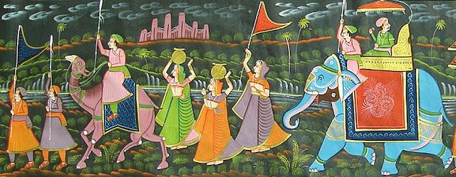 Rajasthani Chitrakala sheli- short notes, rajasthan chitrakala , rajsthan chitrakala visheshta