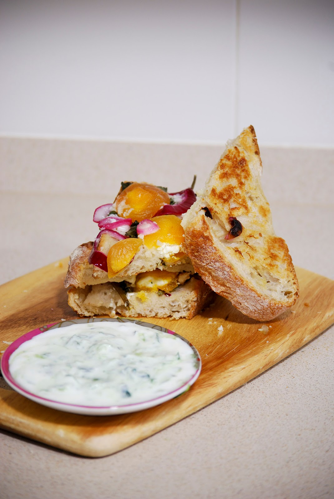 greek cheese toastie sandwich jamie oliver