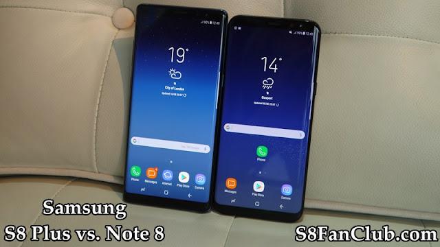 Samsung Galaxy S8 Plus vs. Note 8: Build and Design