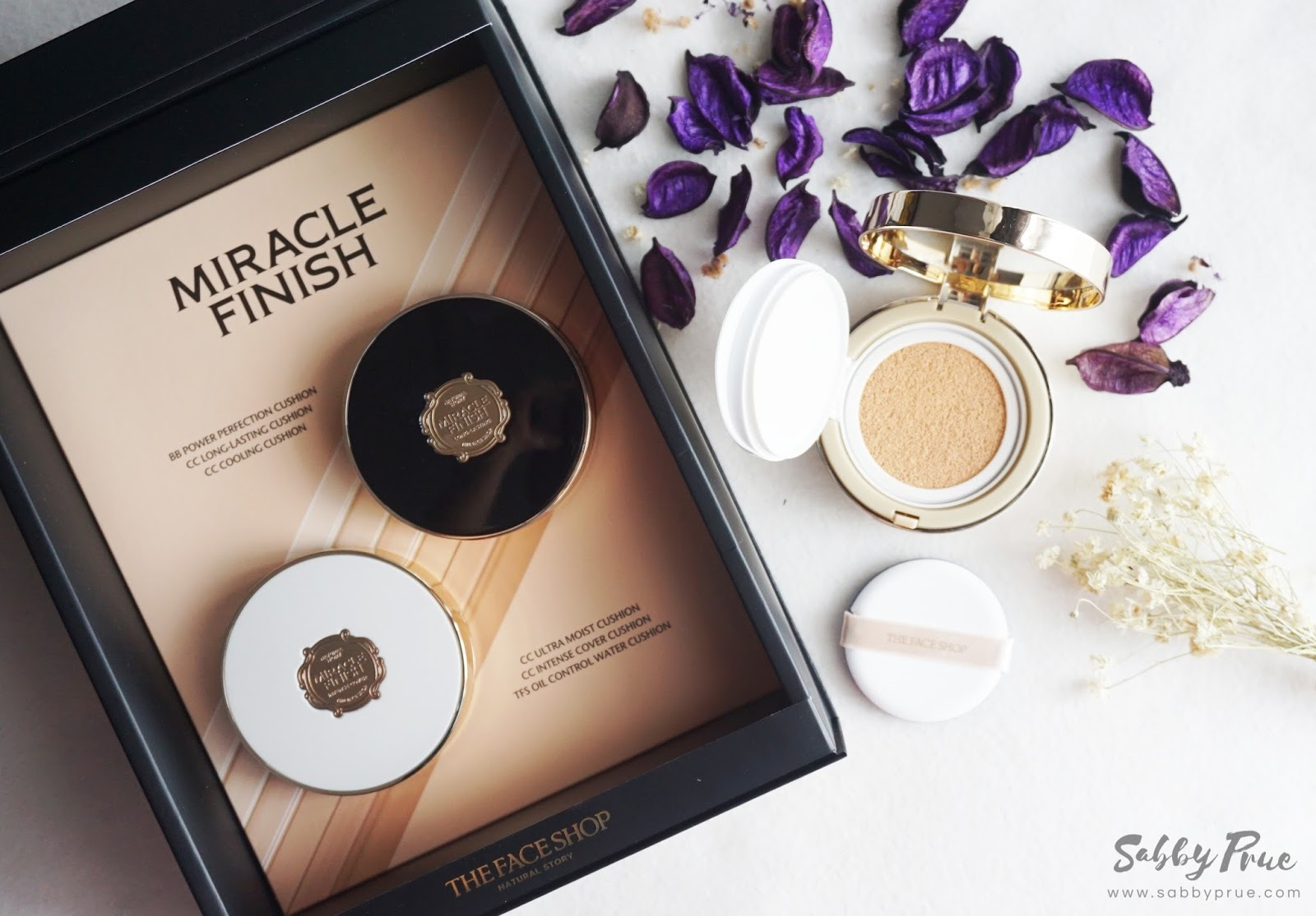 THE FACE SHOP Miracle Finish Cushion in 6 Variants - ♥ Sabby Prue ...