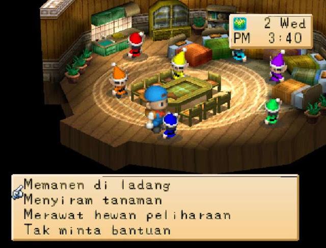 Meminta Bantuan Kurcaci Untuk Bekerja Di Harvest Moon