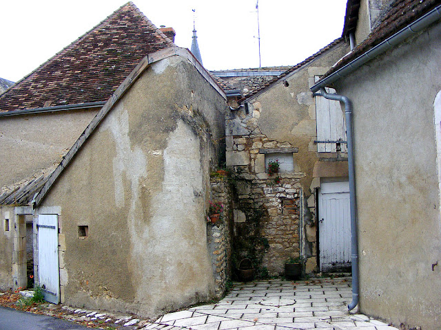 Courtyard, Ingrandes, Indre, France. Photo by Loire Valley Time Travel.