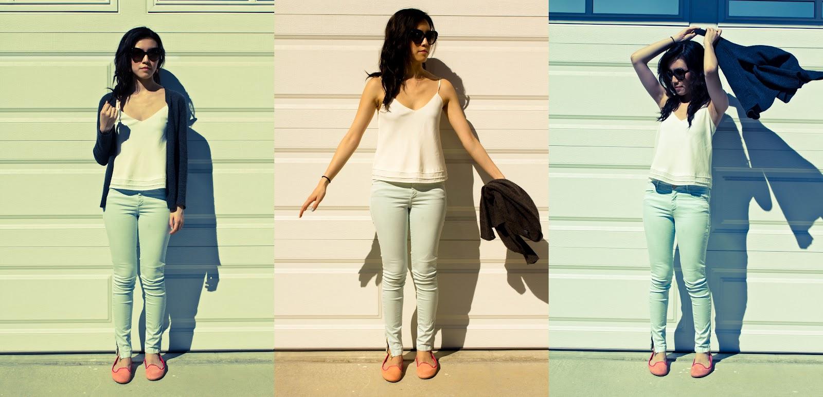 28a1ec5be0dd Talula Tank Top, Zara Basic Jeans, and Cole Haan Air Morgan Ballet Flats