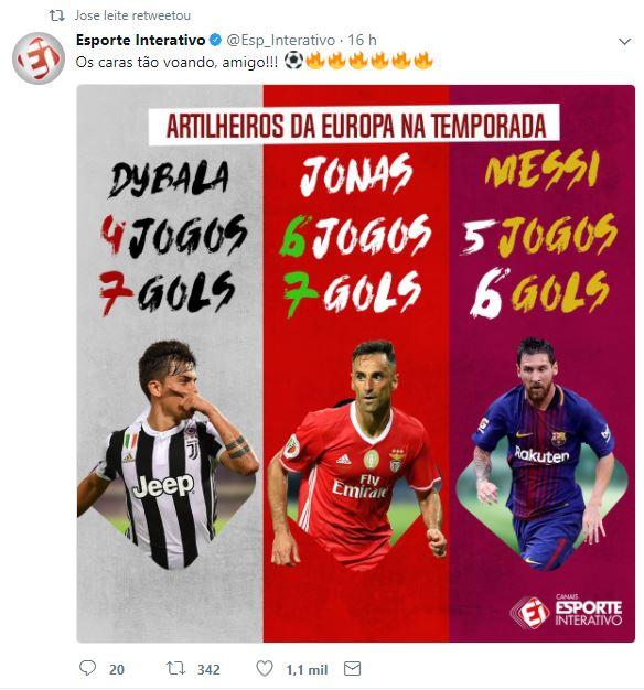 Jonas, Messi e Dibala