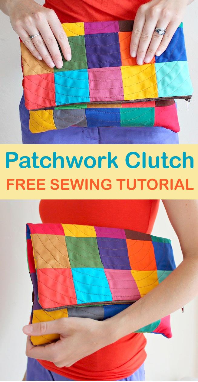 Patchwork Clutch Tutorial & Pattern