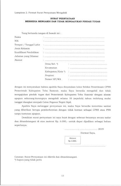 Lowongan CPNS Kabupaten Samosir 2019