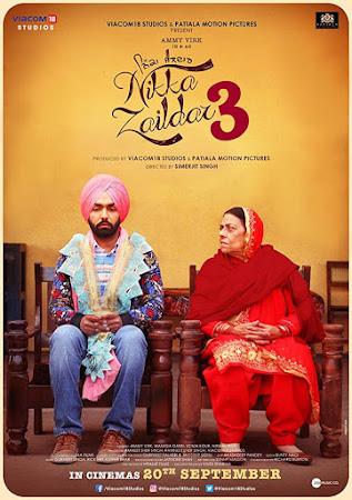 Poster Of Pollywood Movie Nikka Zaildar 3 2019 300MB HDRip 480P Full Punjabi Movie