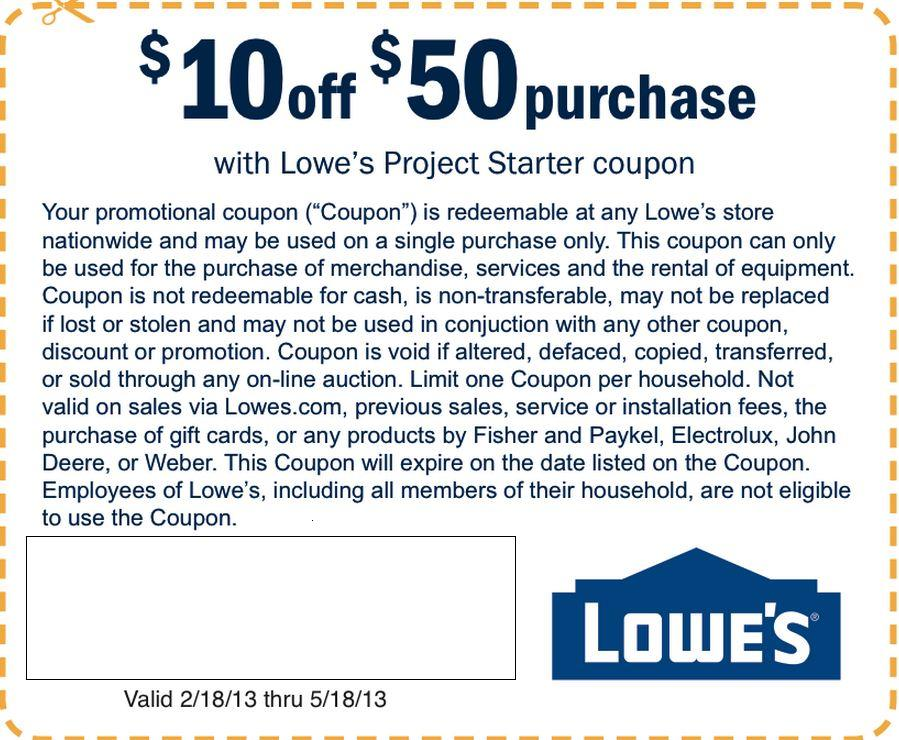 Coupon Stl Lowe S 10 Off 50 Purchase