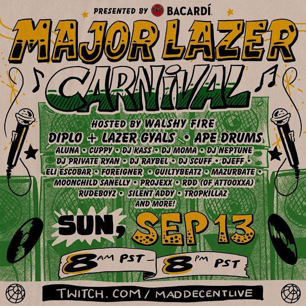 Major Lazer Carnival: Dj Cuppy, Dj Neptune and GuiltyBeatz Set To Perform Live On Twitch