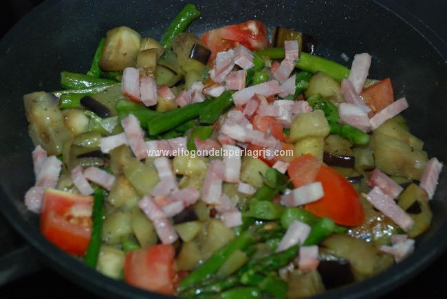 Dejar que las verduras de pongan blandas