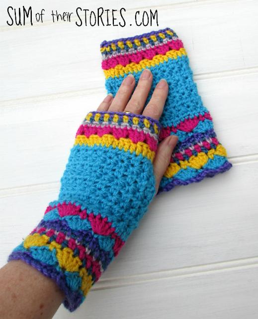 Twinkle star crochet hand mitts
