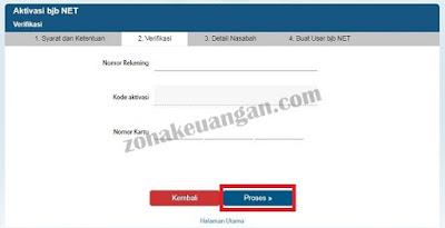 Verifikasi bjb NET