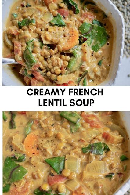 CREAMY FRENCH LENTIL SOUP