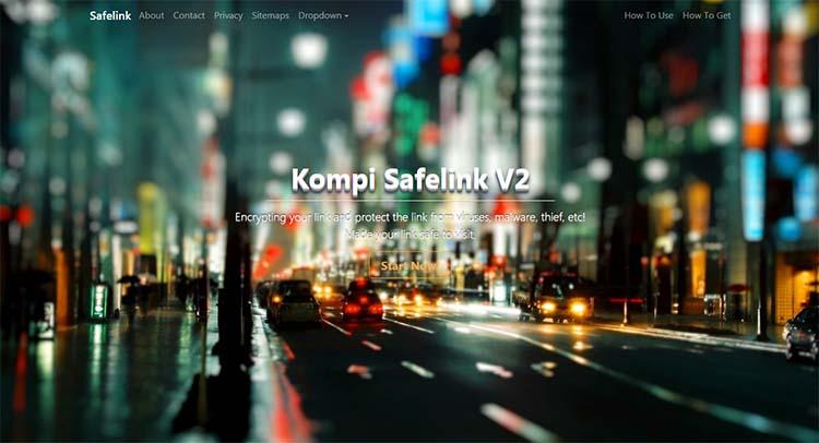 Premium Safelink Blogger Template - Kompi Safelink V2