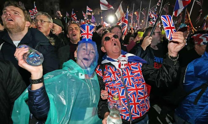 Dramatic scenes of celebration in London as the UK formally exits EU after 47 years.