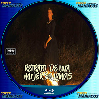 GALLETA LABEL RETRATO DE UNA MUJER EN LLAMAS 2019 [COVER BLU-RAY]