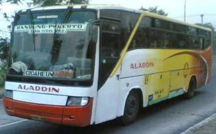 Bus Aladdin jurusan Bandung, Purwokerto, Ciamis, Jogja, Solo, Semarang