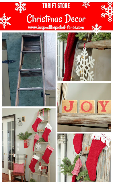 make unique Christmas decor with thrift store items