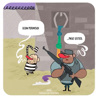 Viñeta de humor carolo por jarúl, policia nacional, delincuencia