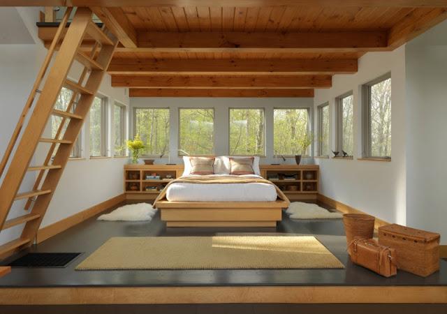 20 Desain Kamar Tidur Indah Dengan Tangga Minimalis